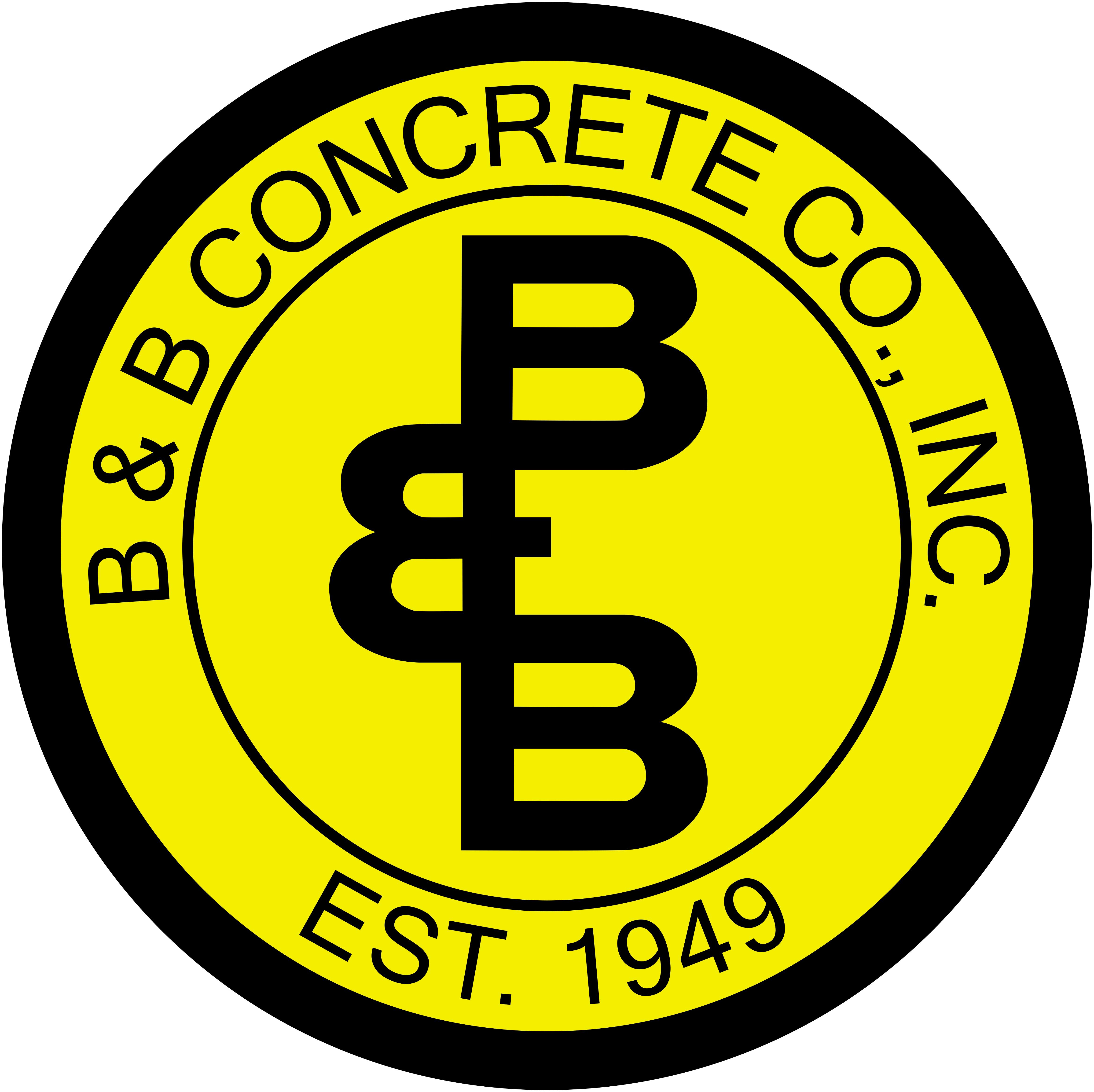 B & B Concrete Co., Inc. logo